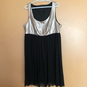 TORRID black sheer and faux leather dress size 18